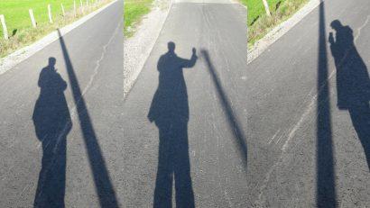 Fotomontage mit Schattenbildern