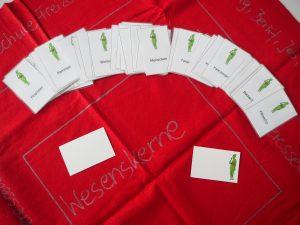 Spielfeld mit Spielkarten
