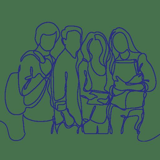 Schüler - Liniengrafik